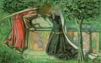 Arthur's Tomb: Sir Launcelot Parting from Guenevere, 1854