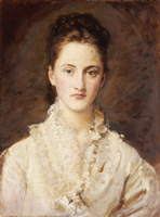 Portrait of the Artist's Daughter, Mary, half length, 1875-7