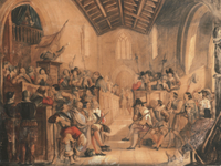 A Roundhead Conventicle: a scene from 'Peveril of the Peak'