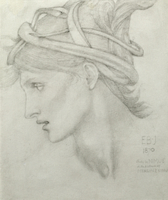 Study for Nimue for 'Merlin and Nimue', 1870