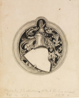 Sketch for the Millais coat of arms, 1862