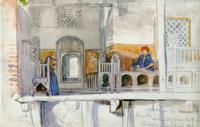 Courtyard of a House in Damietta Built over Water 22040134106| 写真素材・ストックフォト・画像・イラスト素材|アマナイメージズ