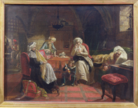 The Royal Family of France in the Temple (oil on canvas)