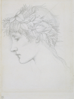 Head crowned with leaves, c.1897