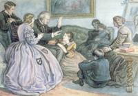 Christmas Story-Telling, A Winter's Tale, 1862 22040158126| 写真素材・ストックフォト・画像・イラスト素材|アマナイメージズ
