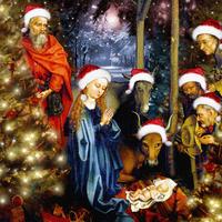 Christmas in the Stable, 2008 (digital collage) 22040201894| 写真素材・ストックフォト・画像・イラスト素材|アマナイメージズ