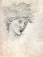 Study of a female head for Sponsa de Libano, c.1891