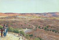Plain of Rephaim from Zion, 1855 22040207868| 写真素材・ストックフォト・画像・イラスト素材|アマナイメージズ
