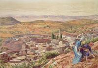 Distant View of Nazareth, 1860-61 22040207869| 写真素材・ストックフォト・画像・イラスト素材|アマナイメージズ