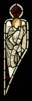 Angel from the chancel east window, Bradford Cathedral