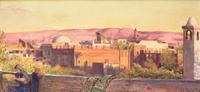 Cairo: Sunset on the Gebel Mokattum, 1884 22040207947| 写真素材・ストックフォト・画像・イラスト素材|アマナイメージズ