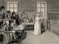 Marie-Antoinette (1755-93) of Habsbourg-Lorraine, Judged by the Revolutionary Tribunal Court, 16th October 1793 (pencil on paper