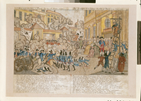 The Terrible Night in Paris, 10th August 1792 (coloured engraving)