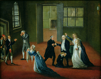 Louis XVI (1754-93) Bidding Farewell to his Family, 20th January 1793 (oil on canvas)