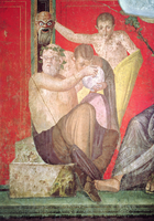 Silenus and the Young Satyr, East Wall, Oecus 5, 60-50 BC (fresco) 22040227143| 写真素材・ストックフォト・画像・イラスト素材|アマナイメージズ