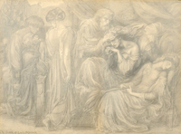 The Death of Lady Macbeth, c.1875 (pencil on paper)