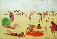 Beach at Deauville, 1935
