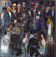 Au Cabaret Negre, 1925 (oil on canvas)