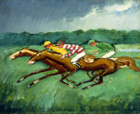 Racing; Courses, (oil on canvas)