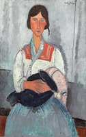Gypsy Woman with Baby, 1919 (oil on canvas)