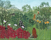 Tropical Forest with Monkeys, 1910 (oil on canvas)