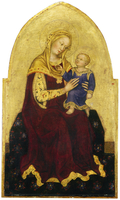 Madonna and Child Enthroned, c.1420 (tempera on panel)