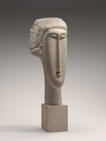 Head of a Woman, c.1910-1911 (limestone)