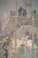 Jan Milic of Kromeriz (d.1374), from the 'Slav Epic', 1916 (oil and tempera on canvas) by Mucha, Alphonse Marie (1860-1939)