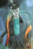 Portrait of Mme. Matisse, 1913