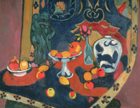 Still Life of Fruit and a Bronze Statue, 1910 (oil on canvas)