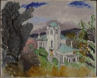 Blue Villa, Nice, 1917 (oil on panel)