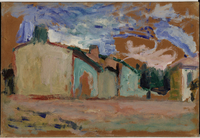 Houses at Fenouillet, 1898 (oil on panel)