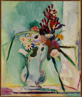 Flowers in a Pitcher, 1908 (oil on canvas)