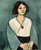Lady in Green with a Red Carnation, 1909 (oil on canvas)