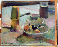 Fruit and Coffee Pot, 1898 (oil on canvas)