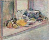 Blue Pot and Lemon, 1897 (oil on canvas)
