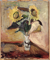 Sunflowers in a Vase, 1902 (oil on canvas)