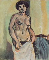Nude, Black and Gold, 1908 (oil on canvas)