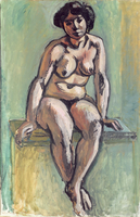 Seated Nude, 1908 (oil on canvas)