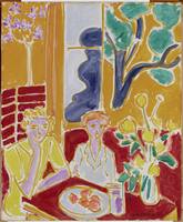 Two Girls in a Yellow and Red Interior, 1947 (oil on canvas)