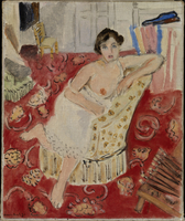 Woman in an Armchair with a Red Rug, 1918 (oil on canvas)