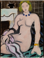 Nude near a Fireplace, 1936 (oil on panel)