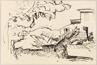 Landscape (Collioure), 1905 (ink pen on paper)