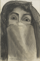 Paditcha, 1947 (charcoal & graphite on paper)