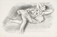 Reclining Dancer, 1925-26 (transfer litho)