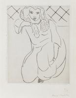 Veiled Oriental Woman Kneeling, 1929 (drypoint)