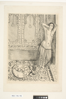Odalisque Debout, Au Plateau de Fruits (Nude standing near a plate of fruit), 1924 (litho)