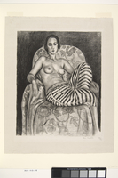 Large Odalisque in Striped Pantaloons, 1925 (litho)