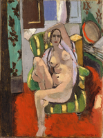 Odalisque with a Tambourine, Nice, place Charles-Felix, winter 1925-26 (oil on canvas)