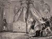 Storming the Queen's Bedroom, October 1789, French Revolution (engraving)
